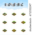 isometric way set of bitumen ...   Shutterstock .eps vector #671553247