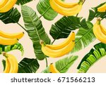 beautiful seamless vector... | Shutterstock .eps vector #671566213