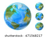 earth set with different... | Shutterstock . vector #671568217