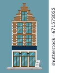 flat design. european old... | Shutterstock .eps vector #671573023