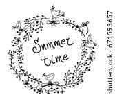 vector simple wreath of... | Shutterstock .eps vector #671593657