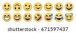 set smiley vector icon | Shutterstock .eps vector #671597437