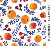 Oranges Floral Pattern. Orange...