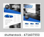 car dealership brochure.... | Shutterstock .eps vector #671607553