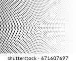 abstract halftone dotted...   Shutterstock .eps vector #671607697