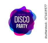 disco party trend frame. club... | Shutterstock .eps vector #671619577
