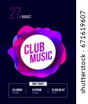 party flyer. club music poster. ... | Shutterstock .eps vector #671619607
