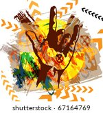 heavy metal hand. vector... | Shutterstock .eps vector #67164769