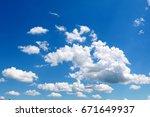 clouds in the sky | Shutterstock . vector #671649937