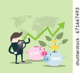 business man find to investment ... | Shutterstock .eps vector #671667493