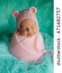 portrait of newborn baby... | Shutterstock . vector #671682757
