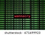 wanna cry virus computer... | Shutterstock . vector #671699923