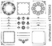 vintage set of vector... | Shutterstock .eps vector #671700043
