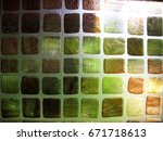 the texture of color tile and... | Shutterstock . vector #671718613