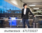 young asian man with his... | Shutterstock . vector #671723227