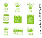 vector eco friendly  100 ... | Shutterstock .eps vector #671726977