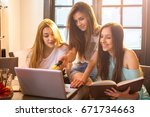 high school students learning... | Shutterstock . vector #671734663