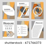 abstract vector layout... | Shutterstock .eps vector #671766373