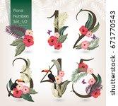 vector illustration of floral... | Shutterstock .eps vector #671770543