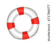 lifebuoy icon in cartoon style... | Shutterstock .eps vector #671786077