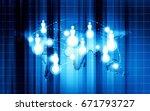 world technology communication... | Shutterstock . vector #671793727