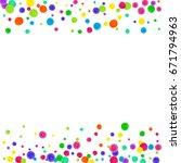 watercolor rainbow colored... | Shutterstock . vector #671794963