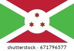 vector burundi. flag | Shutterstock .eps vector #671796577