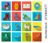 textiles  hygiene  medicine and ... | Shutterstock .eps vector #671804377