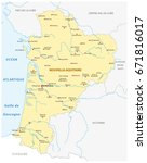 map of the new french region... | Shutterstock .eps vector #671816017