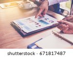 close up of business people... | Shutterstock . vector #671817487