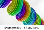 rainbow spectrum gradient... | Shutterstock . vector #671827843