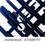 cut 3d paper color straight... | Shutterstock .eps vector #671838757