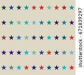 vector seamless stars... | Shutterstock .eps vector #671839297