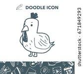 chicken doodle | Shutterstock .eps vector #671849293