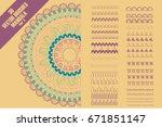 vector pattern brushes to... | Shutterstock .eps vector #671851147