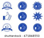 isolated facebook like buttons... | Shutterstock .eps vector #671868553