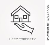 line icon keep property