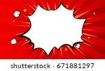 pop art splash background ... | Shutterstock .eps vector #671881297