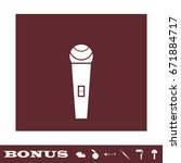 microphone icon flat. white...