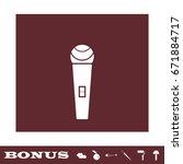 microphone icon flat. white...