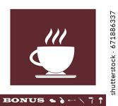 cofee cup icon flat. white... | Shutterstock .eps vector #671886337