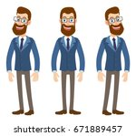 full length portrait of cartoon ... | Shutterstock .eps vector #671889457