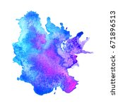 abstract hand drawn watercolor... | Shutterstock .eps vector #671896513