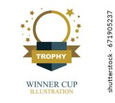 winner logo and background with ...   Shutterstock .eps vector #671905237