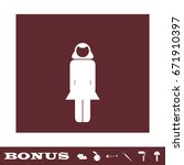 woman icon flat. white...