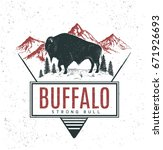 old retro logo with bull... | Shutterstock .eps vector #671926693