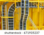cable tray with electrical... | Shutterstock . vector #671935237