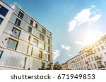 modern residential architecture ... | Shutterstock . vector #671949853