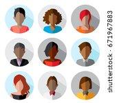 avatar  women  and men heads in ...   Shutterstock .eps vector #671967883