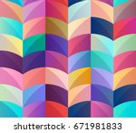 seamless geometric pattern of... | Shutterstock .eps vector #671981833